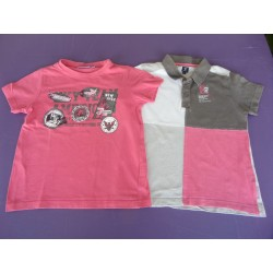Lot de 2 t.shirts Okaidi/CFK 6 ans