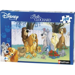 Puzzle La Belle Et Le Clochard - 100 Pieces Nathan