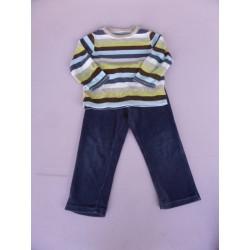Pyjama velours 2 pièces taille 18-24 mois