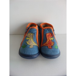 Chaussons denim brodés pointure 20