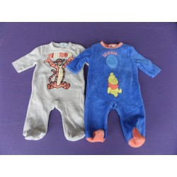 Lot de 2 pyjamas velours brodés Disney 1 mois