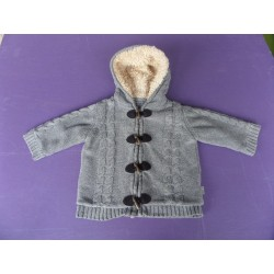 Gilet duffle coat à capuche fourrée Sergent Major taille 1 an