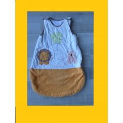 Gigoteuse beige/orangé Les Animaux de la jungle 0-6 mois