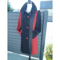 Superbe manteau femme patchwork Lulu H taille S
