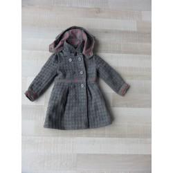 Manteau laine doublé Orchestra fille 3 ans