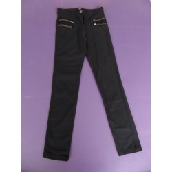 Mim, pantalon slim avec zips appliqués taille 34
