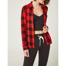 Chemise à carreaux rouge et noir Jennifer taille XS
