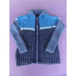 Veste zippée laine 10-12 ans