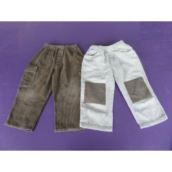 Lot de 2 pantalons velours garçon 3 ans