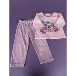 Pyjama fille velours 2 pièces NKY 3 ans