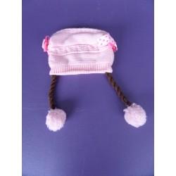 Bonnet maille doublé polaire 6-18 mois