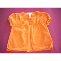 "Cardigan orange ""Obaibi"" 6 mois"