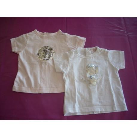 Lot de tee-shirts Les Petits Babies 6 mois