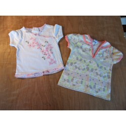 Lot de 2 tee-shirt  fille 1 an
