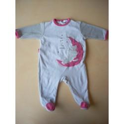 Pyjama velours fille 6M