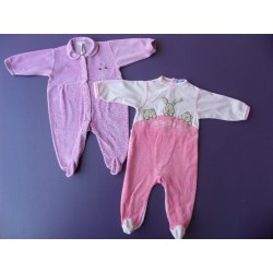 Lot pyjamas velours fille 6 mois