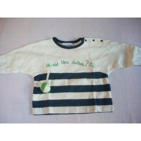 "Tee-shirt manches longues ""Sucre d'Orge"" 6 mois"