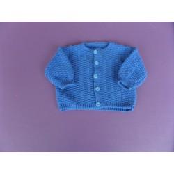 Cardigan fille bleu roi 3-6 mois